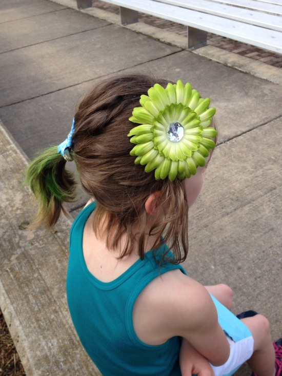 Getting fancy for our first Girls on the Run race.