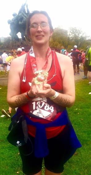 My arms had names for every mile of the 2015 Marine Corps Marathon. I ran a freakin' marathon!