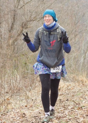 The Lioness skirt with some leggings under them during a trail race. It has three pockets!!!
