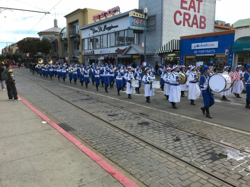 One of the many bands that participated in th Veterans Day parade.