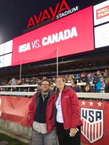 Mountain Papa and I at the US vs. Canada women's soccer game.