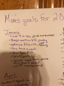 My to-do list for January
