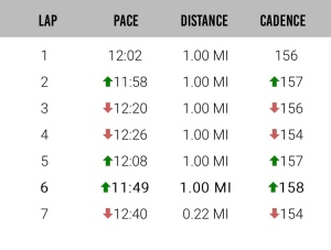 My mile splits courtesy of Milestone Pod.