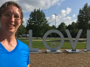 This is me on a solo moving trip during a stop in Virginia. One of my blog posts talks about the trip and how I just had to let stuff go.
