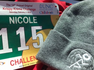 Each bib has a different color depending on how you participate in the race. The beanie from the 2018 race was fleece lined.