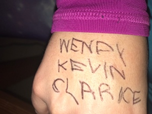 I dedicated my race to Wendy, Kevin and Clarice.