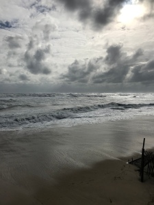 This photo of the Atlantic Ocean was taken during a recent wind storm.