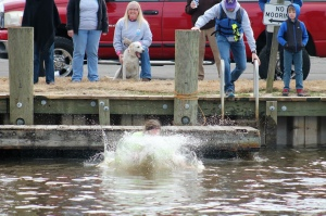 That's cold water in the Edenton Bay. Photo by Kim Ullom.