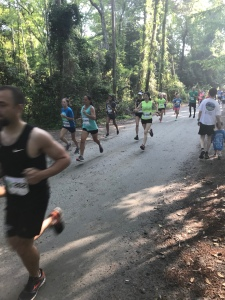 Runners start the Nags Head Woods 5K.