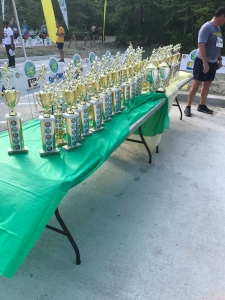 The trophy table.
