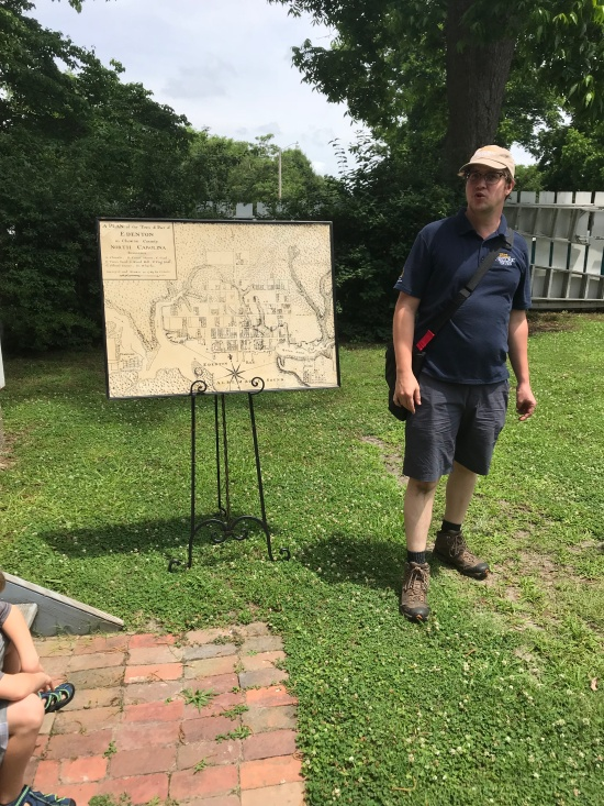 Andrew Cole, with the North Carolina Historic Sites, talks about an early map of Edenton, NC, and some of the buildings on the James Iredell House property.