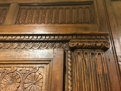 Wood panelling from the late 1500s on display at Fort Raleigh National Historic Site..