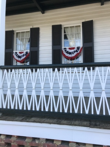 The James Iredell house is decorated on Church Street in Edenton, North Carolina.