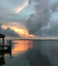 The sunrise at Manteo looking toward Nags Head and the Outer Banks.