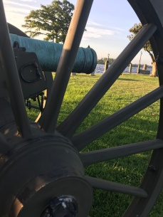 These cannons were made during the Civil War when an attack on Edenton seemed likely. The local churches donated their bells to be melted the reforged into the cannon you see here.