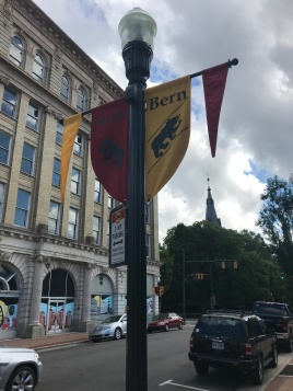 Flags throughout New Bern.