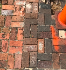 Augusta Block is popular among the bricks paving the sidewalks and streets.